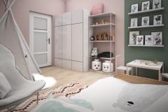 Dom Oliwka - wizualizacja - pokój