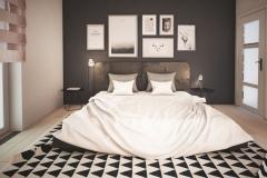 Dom Oliwka - wizualizacja - sypialnia