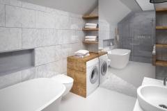 Dom Oliwka - wizualizacja - łazienka