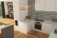 Dom Oliwka - wizualizacja - kuchnia