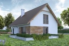 Dom Oliwka - widok zewnętrzny na taras
