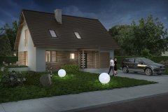 Dom Oliwka - wizualizacja nocna